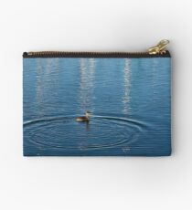 Ripples and Circles – Red-Necked Grebe Studio Pouch