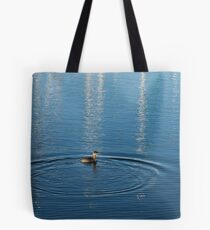 Ripples and Circles – Red-Necked Grebe Tote Bag