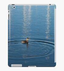 Ripples and Circles – Red-Necked Grebe iPad Case/Skin