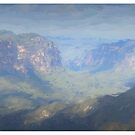 Govets Leap Blue Mountains by STEPHEN GEORGIOU PHOTOGRAPHY
