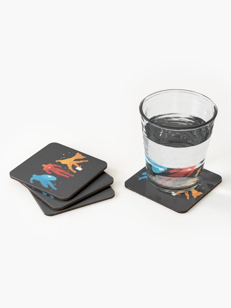 Alternate view of Heroes Painting Coasters (Set of 4)