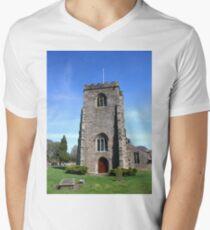 St Wilfrid's Church, Ribchester Mens V-Neck T-Shirt