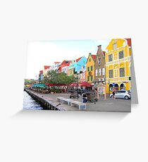 Along the Harbor in Curacao Greeting Card