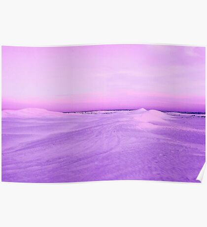 Lancelin Sand Dunes At Dusk  Poster