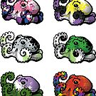 LGBT Octopi Stickers (sheet 2) by blockmind