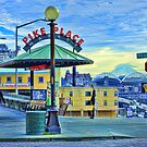 Mt. Rainier from Pike Place Market by lincolngraham