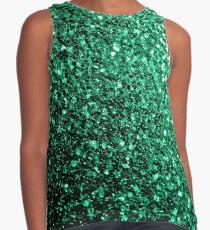 Beautiful Emerald Green glitter sparkles Sleeveless Top
