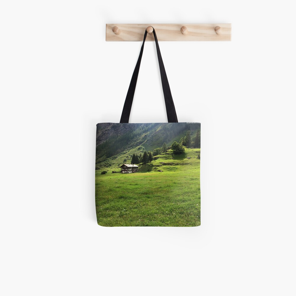 Walser house in the alps (photography) Tote Bag