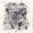 Entwined Bodies - Monotype + Ink Drawing by Pascale Baud