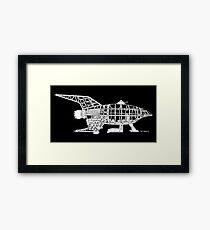 Old Bessie U.S.S. Planet Express Schiffs-Skelett-Bauplan Gerahmtes Wandbild