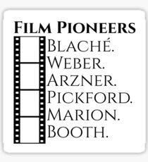 Historic Women Film Pioneers Sticker
