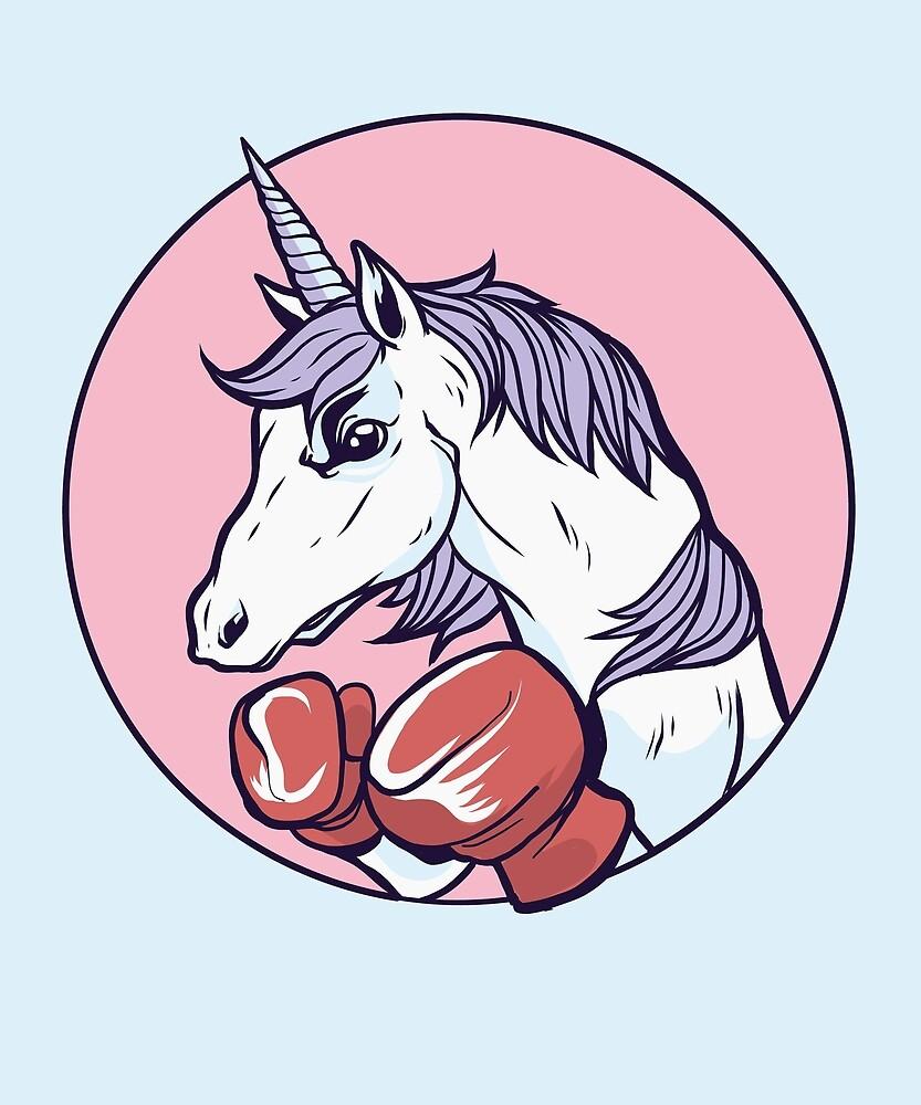 Boxing Unicorn by angelandspot