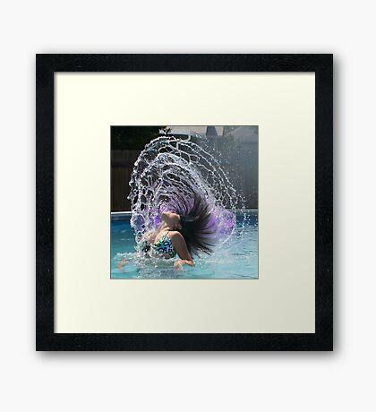 WATER ART Framed Print