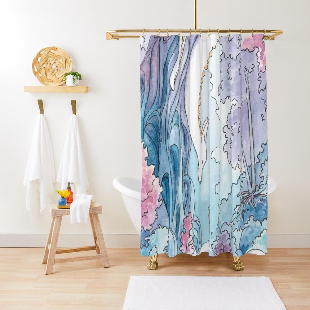 The Albino FoxDragon Shower Curtain