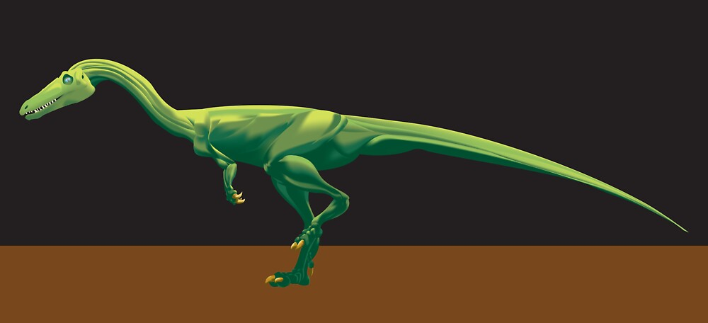 Coelophysis bauri, Full Figure by Sean Craven