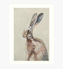 Spring Hare Art Print
