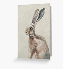 Spring Hare Greeting Card