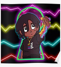 Lil Uzi Eternal Atake Cartoon Design Poster