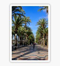 Alicante, Explanada de España Sticker