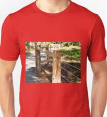 *New Post & Wire Fence around Walking path* T-Shirt