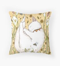 Butterflies and Bees Throw Pillow