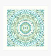 Sea Glass Mandala Art Print
