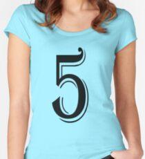 Camiseta entallada de cuello ancho Number Five