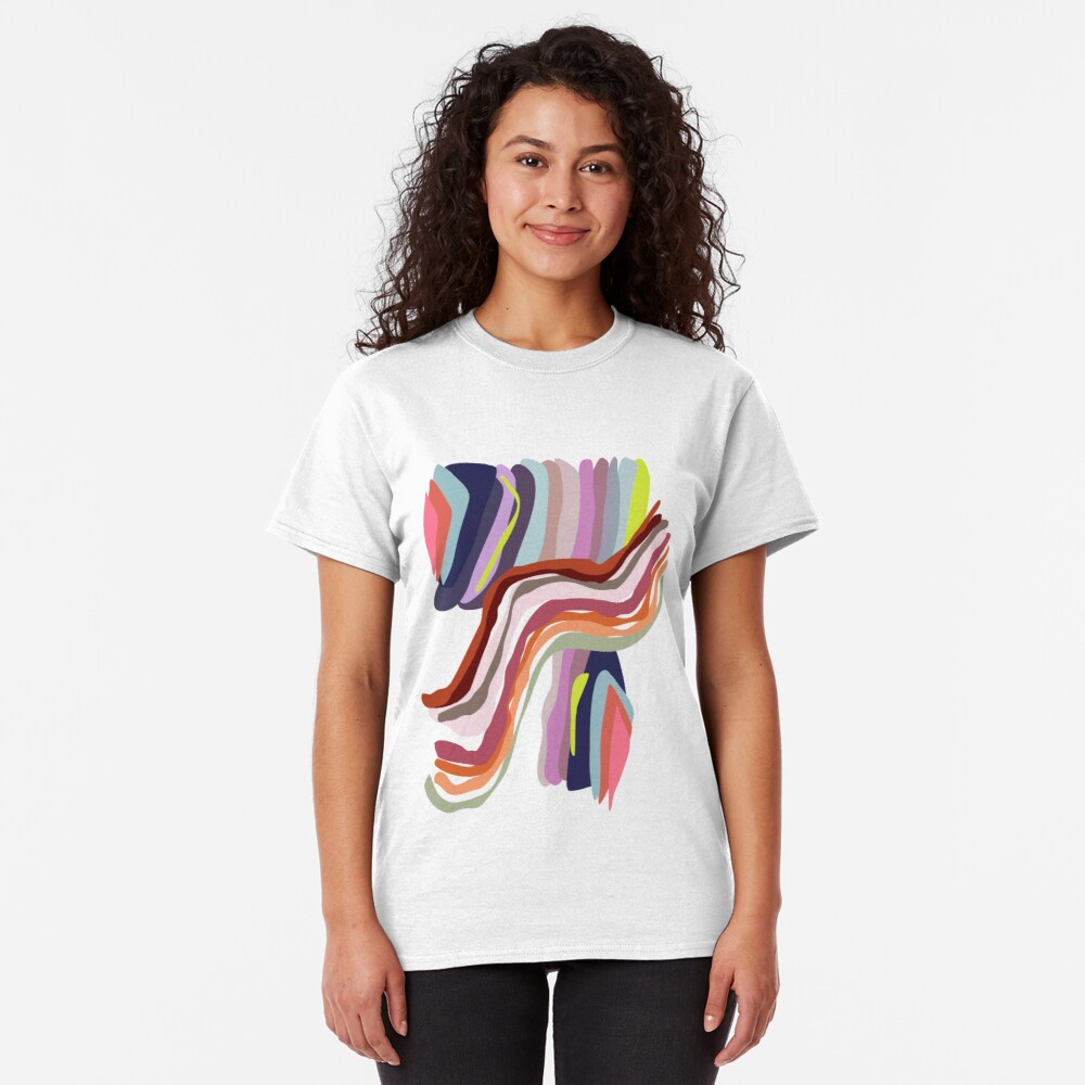 Id, Ego and Superego abstract and colorful Classic T-Shirt