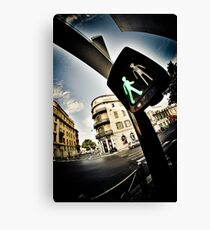 Pedestrian crossing ! Canvas Print