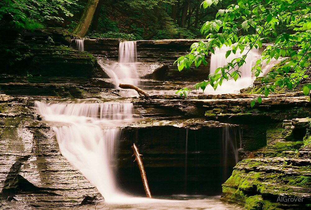 waterfalls at Buttermilk Falls by AlGrover