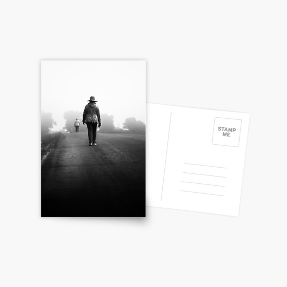 für immer Straße Postkarte