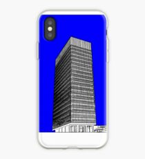 Sheffield University Arts Tower- Blue iPhone Case