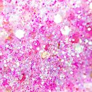 Pink and Purple Glitter Sparkling Sci-fi by Shelly Still