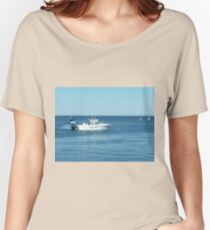 A large boat on its way out to sea for some fishing- Werribee Sth. Women's Relaxed Fit T-Shirt