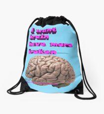 I want brain have more broken, google translate version Drawstring Bag