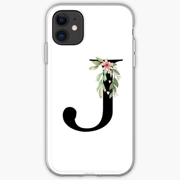 Botanical letter J iPhone Soft Case