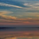 rainbow sunset. anderson inlet, victoria by tim buckley | bodhiimages