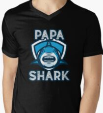 Papa Shark V-Neck T-Shirt