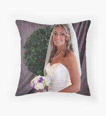 About to Depart For The Ceremony Throw Pillow