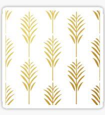 Goldene Palmblätter auf Weiß Sticker
