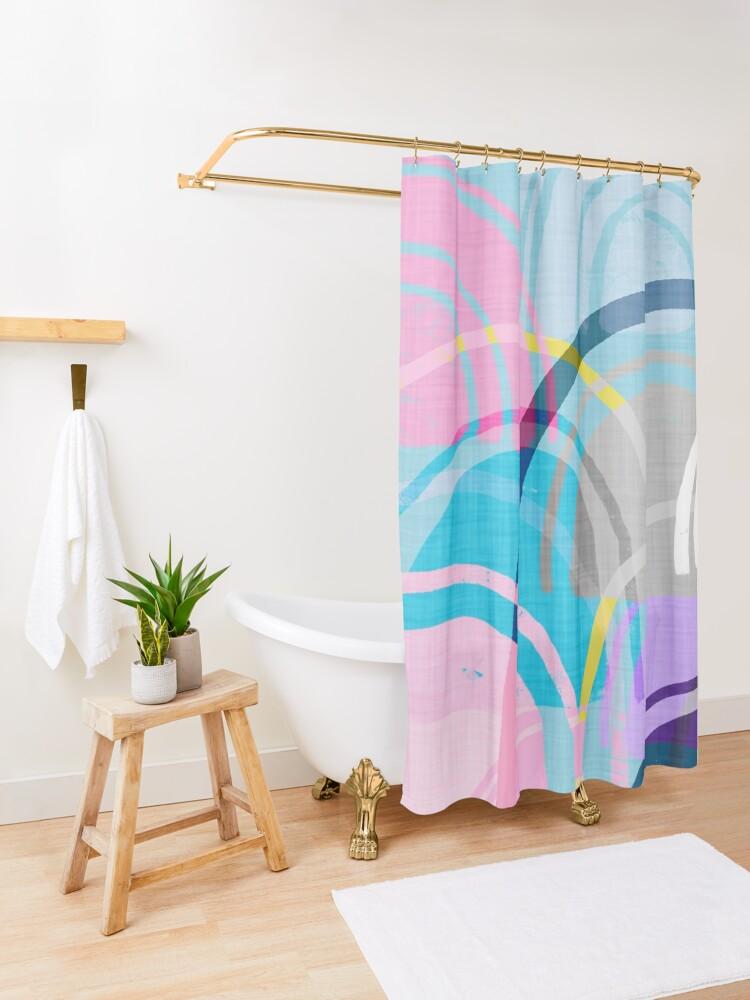 Alternate view of Somewhere Shower Curtain