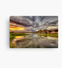 Sundown at Willow Lake Canvas Print