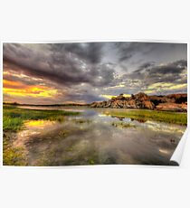 Sundown at Willow Lake Poster