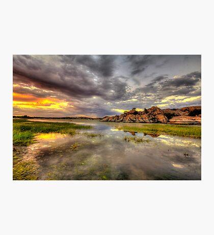 Sundown at Willow Lake Photographic Print