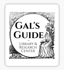 Gal's Guide Women's History Library and Research Center Sticker
