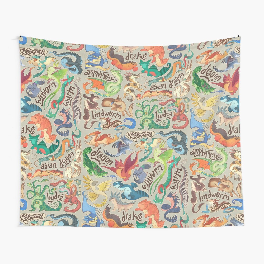 Mini dragon compendium  Wall Tapestry