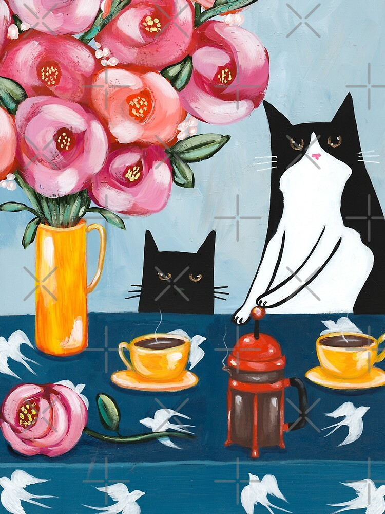 French Press Coffee Cats by kilkennycat