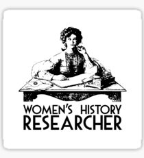 Women's History Researcher Sticker