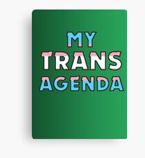 MY TRANS AGENDA Canvas Print