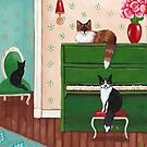 Cats and the Green Piano by Ryan Conners